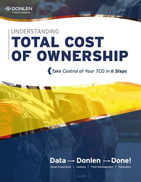 Stanford Mba Total Cost by Total Cost Of Ownership Donlen Revised Original