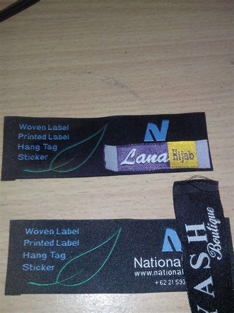 Kain Spunbond Jember jasa pembuatan label woven pusat cetak sablon merchandise