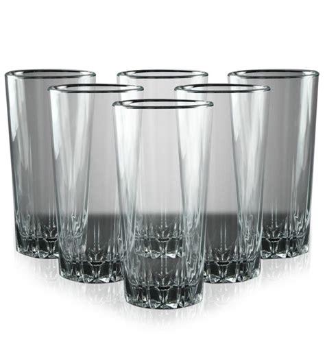 barware online pasabahce karat long glass set of 6 by pasabahce online