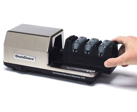 knife sharpeners electric chef schoice commercial electric knife sharpener model 2100