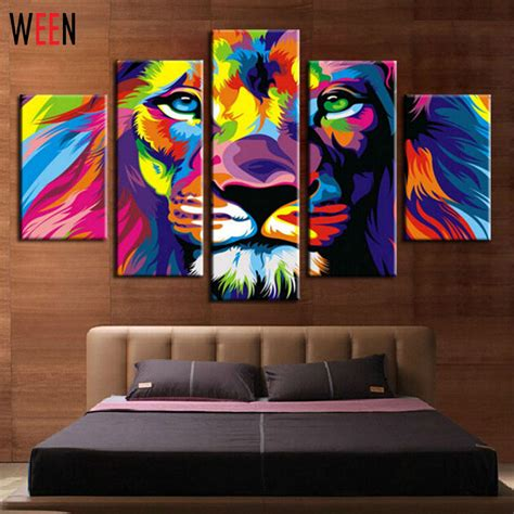 26 abstract painting for living room wall art designs diy framed lion king animal abstract print canvas painting