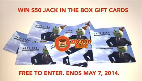Which Wich Gift Card - win 50 jack in the box 174 gift card so good exclusive ends may 7th 2014 so good