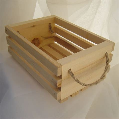 wooden gift basket  hemp twine handles yellow cedar