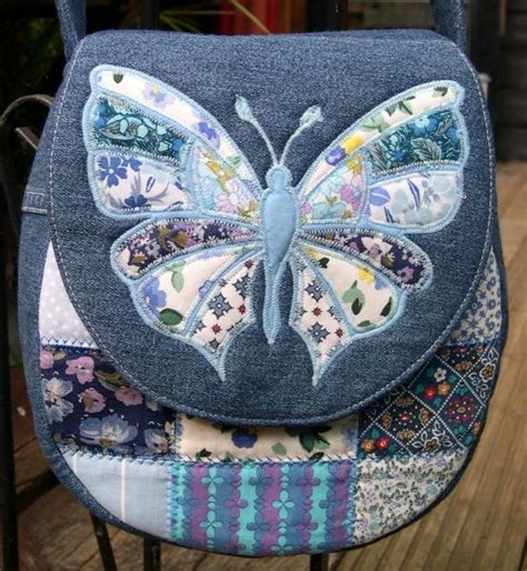 Denim Patchwork Bag Patterns Free - best 25 butterfly bags ideas on