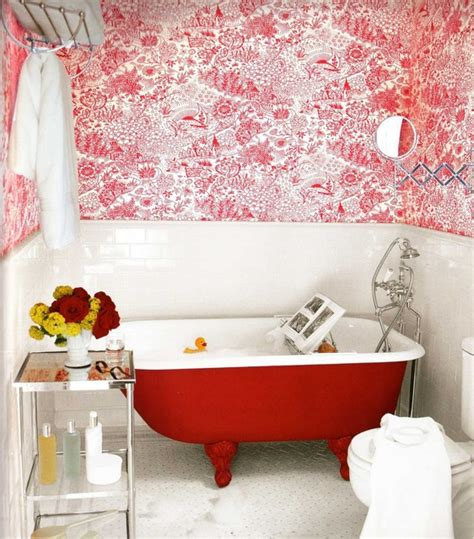 red bathtubs apartment therapy red clawfoot tub