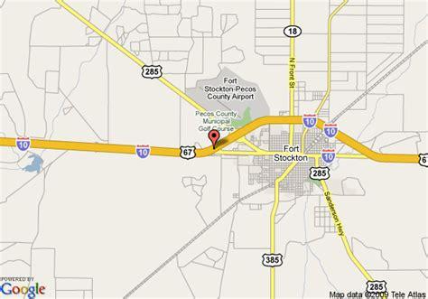 stockton texas map map of la quinta inn fort stockton fort stockton