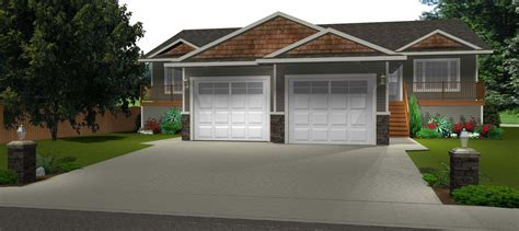 Side By Side Duplex Plans by Side By Side Duplex For A Wider Side Bi Level