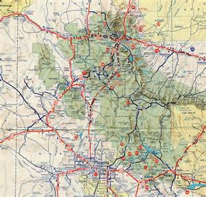 arizona interstate map interstate guide interstate 17