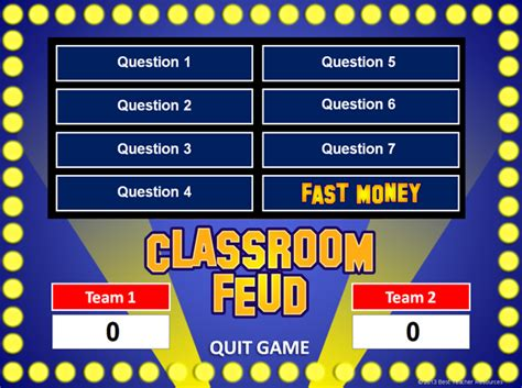 Family Feud Powerpoint Template Classroom Game How To Make Family Feud On Powerpoint