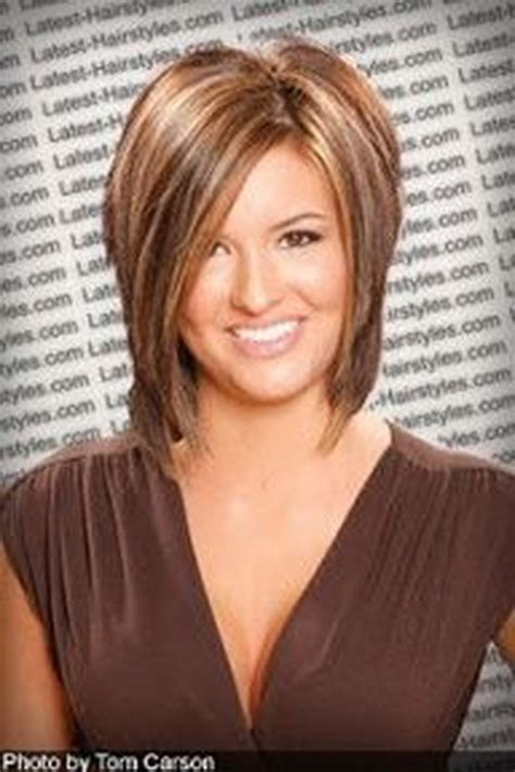 trendy hairstyles for medium length hair with stack in back medium stacked haircuts