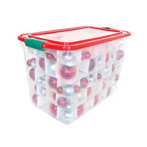 holiday latching ornament storage 112 qt homz