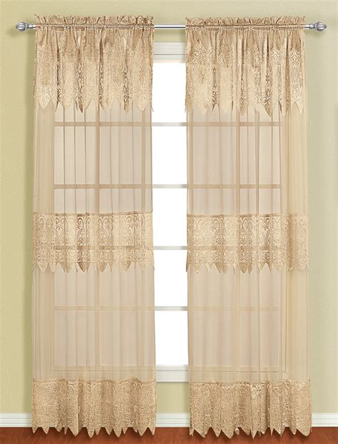 Blue Sheer Valance Valerie Curtain With Attached Valance Blue United