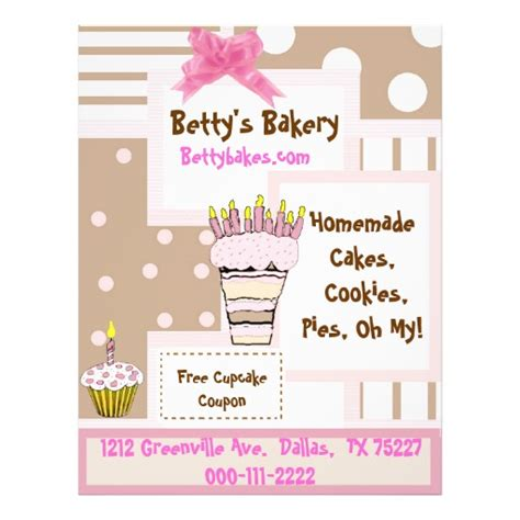 free bakery flyer templates whimsical bakery flyer
