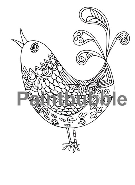 pattern drawing bird bird by paintbubble on etsy zentangle patterns drawings