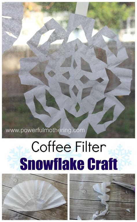 snowflake pattern coffee filter coffee filter snowflake craft based on the snowy day by