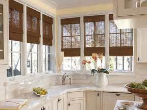 kitchen blinds ideas bloombety window treatment ideas for kitchen bay window