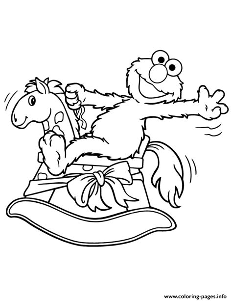 coloring pages of rocking horses elmo rocking coloring page coloring pages