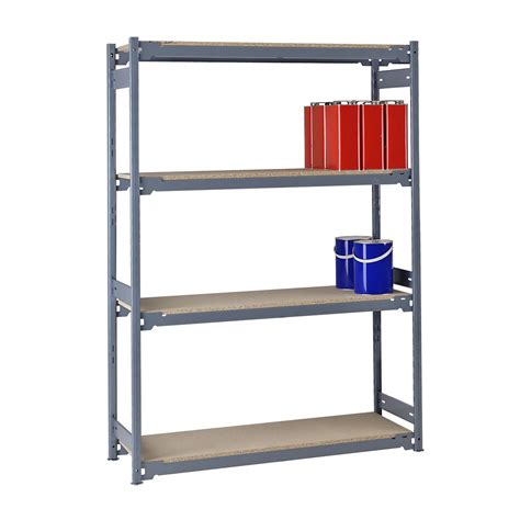 7ft high 2135mm heavy duty steel shelving with chipboard