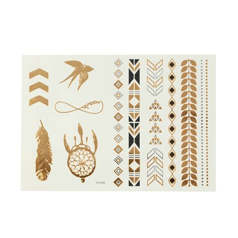 Flash Tattoo Kaufen Schweiz | flash tattoo gold temporary tattoo sticker silber schwarz