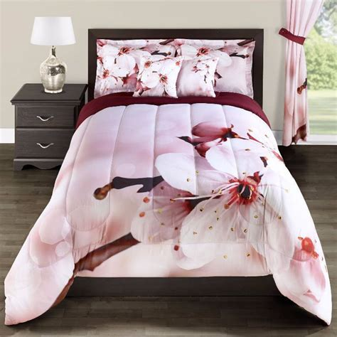 pink twin size comforter alcove 2pc blossom pink comforter twin size clothing
