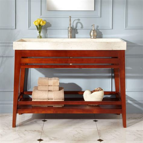 trough sink vanity 48 quot aurelia mahogany trough sink vanity can ii get without