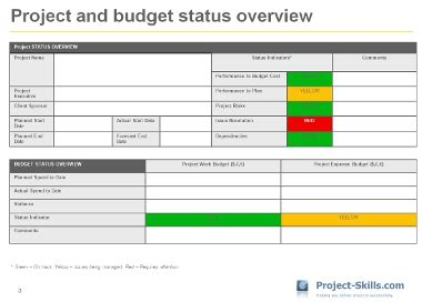 project status report sle search project