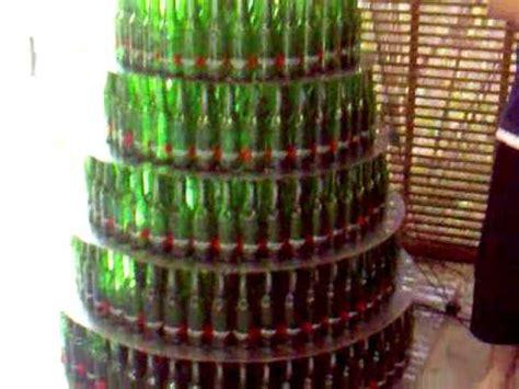 beer bottle christmas tree bottle tree with lights 430 steinlager glass bottles