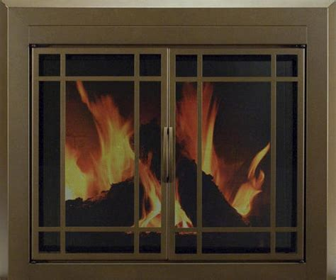 Fireplace Store Prairie by Enfield Large Prairie Cabinet Style Fireplace Door At Menards 174