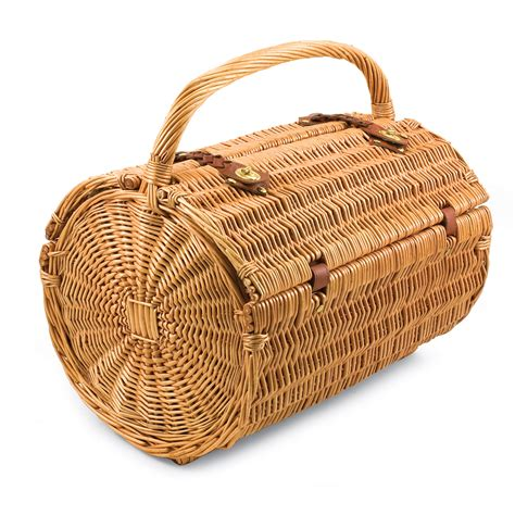 picnic baskets picnic time verona willow wicker shoulder bag picnic basket pine green