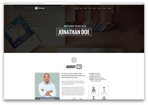 31 Best Vcard Wordpress Themes 2018 For Your Online Resume Colorlib Personal Academic Website Templates Free