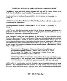 easement template 6 driveway easement agreement form sles free sle
