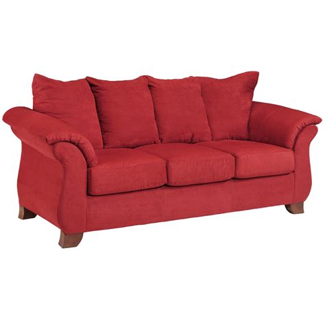 red microfiber loveseat flash furniture exceptional designs sensations red brick