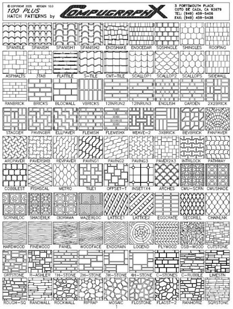 mosaic hatch pattern autocad hatch patterns 100 plus hatch patterns