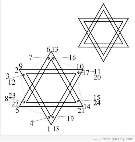 printable star of david pattern star of david string art free pattern to download