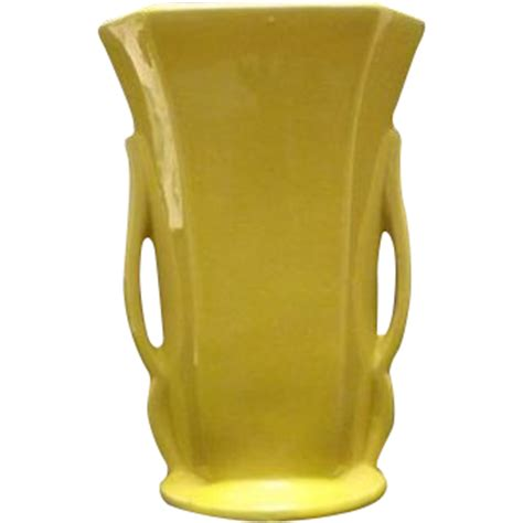 Yellow Mccoy Vase by Yellow Quot Mccoy Quot Two Handled Vase From Adreamremembered On