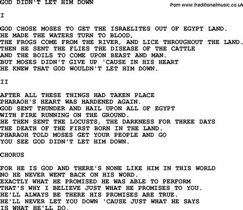 printable lyrics to didn t i walk on the water country southern and bluegrass gospel song god didn t let