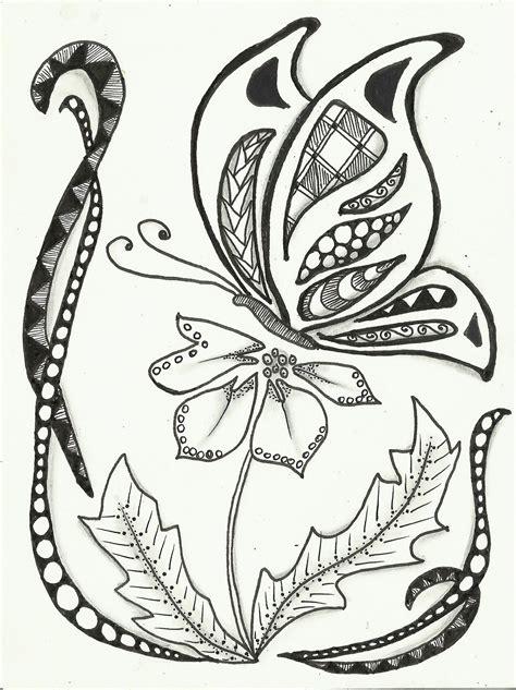easy zentangle patterns black zentangle drawing by simple zentangle butterfly youtube