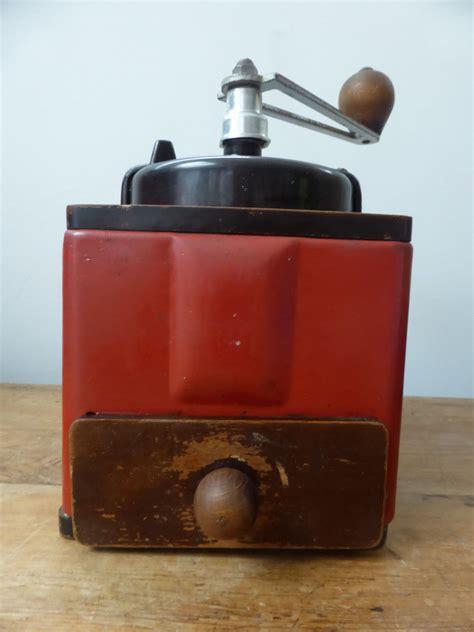vintage peugeot vintage peugeot coffee grinder red metal bakelite 163 25