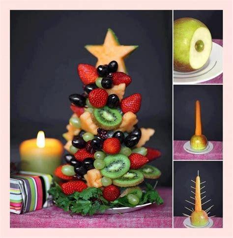 food decorations ideas for christmas creative food ideas diy fruit tree with fresh fruits 1910235 weddbook