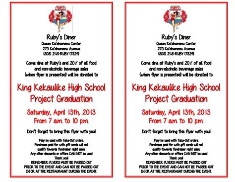 Grad Fundraising Letter king kekaulike high school project graduation fundraiser flyer