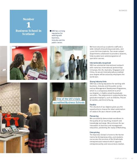 Strathclyde Mba Brochure by Of Strathclyde Strathclyde Isc Brochure 1617