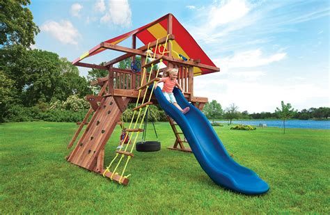 swing sets for children kids swing sets with slides tire swing pot o gold