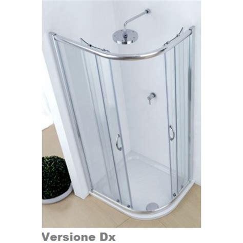 cabine doccia cristallo box doccia ad angolo asimmetrico per piatti doccia 70x90 cm