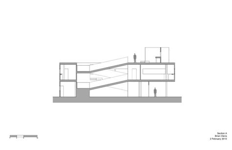 Le Corbusier Section by Villa Savoye Elevation Dimensions Crafts