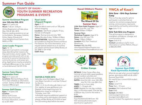 kauai summer fun guide kauai family magazine summer 2014 fun guide