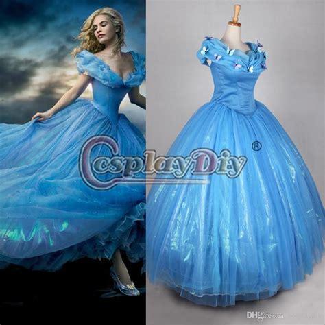 01 Princess Dress 2015 newest cinderella princess dresses blue deluxe