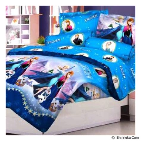 Sprei Blue Frozen by Jual Ellenov Sprei Bahan Katun Frozen Single Size Blue