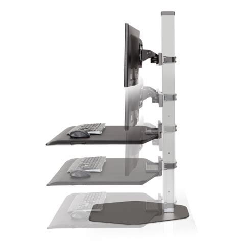 winston stand up desk winston workstation 174 dual freestanding sit stand innovative