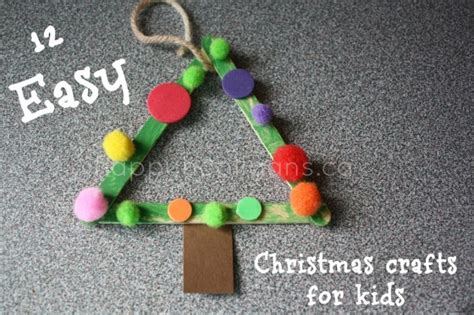 easy christmas crafts for kids crafts for easy ornaments happy hooligans