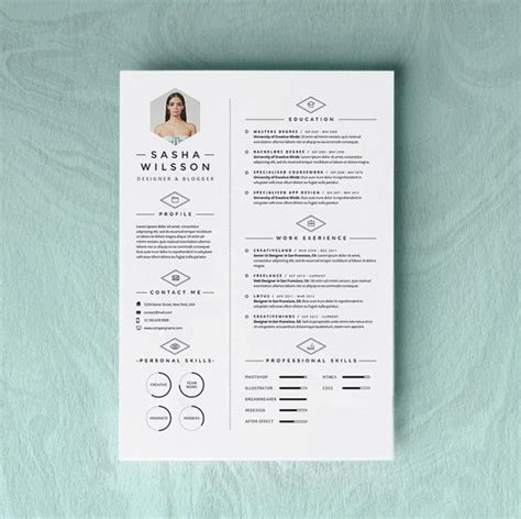 creative toast cover page design with custom pattern 5 page resume template cv template pack cover letter